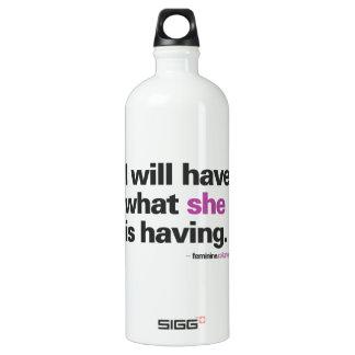 J'aurai… la bouteille d'eau