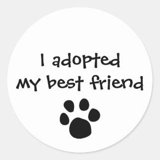 """""""J'autocollant ai adopté mon meilleur ami"""" par les Sticker Rond"""