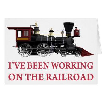 J'avais travaillé au chemin de fer carte de vœux