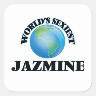 Jazmine le plus sexy du monde autocollants carrés
