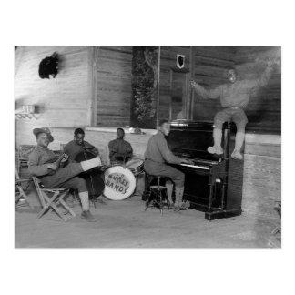 Jazz-band, 1918 cartes postales