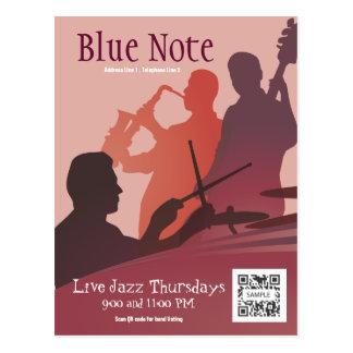 Jazz-band d'événement de modèle de carte postale