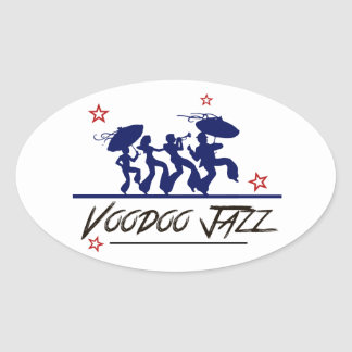 Jazz band new orleans sticker ovale