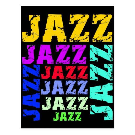 Jazz coloré et frais cartes postales