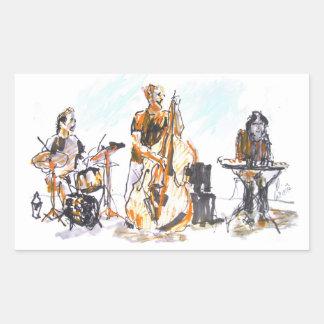 Jazz concert Trio Sticker Rectangulaire