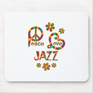 Jazz d'amour de paix tapis de souris