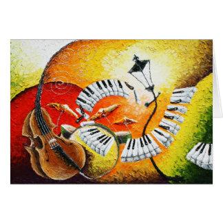 Jazz dans la carte de voeux de collines