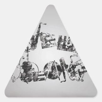 Jazz de la Nouvelle-Orléans Stickers En Triangle