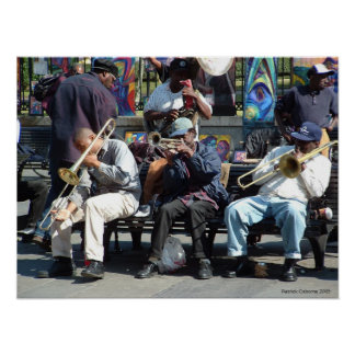 Jazz de quartier français affiche