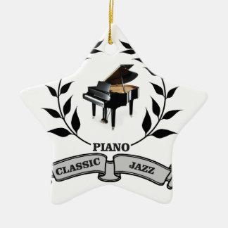 jazz du piano c ornement étoile en céramique