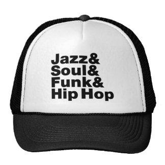 Jazz et âme et trouille et hip hop casquettes de camionneur