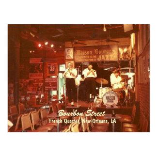 Jazz la Nouvelle-Orléans, carte postale de rue de