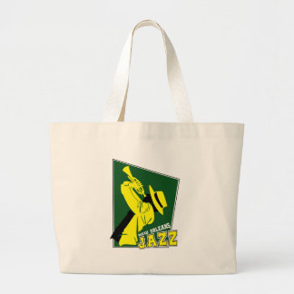 jazz new orleans grand tote bag
