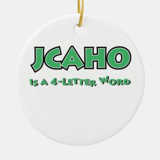 JCAHO est un mot 4-Letter Ornement Rond En Céramique