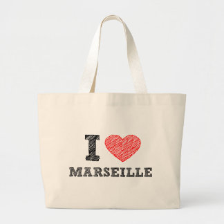 Je-amour-Marseille Sac De Toile