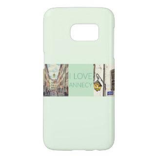 """""""Je bannière de photo aime Annecy"""" Coque Samsung Galaxy S7"""