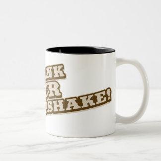 Je bois de votre milkshake là serai sang mug bicolore