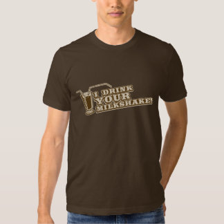 Je bois de votre milkshake là serai sang t-shirts