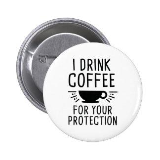 Je bois du café badges