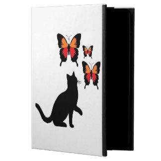 Je capitonne chat noir et papillons de caisse coque powis iPad air 2