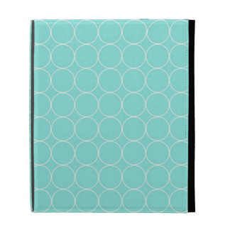 je capitonne le motif blanc de cercles d Aqua Coques iPad