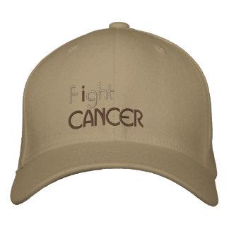Je combats le casquette brodé par cancer