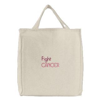 Je combats le sac brodé par cancer