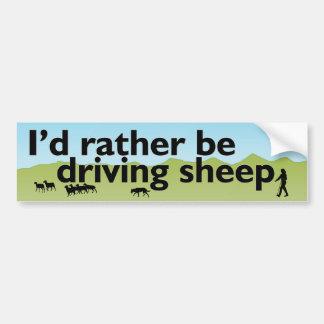Je conduirais plutôt des moutons autocollant de voiture