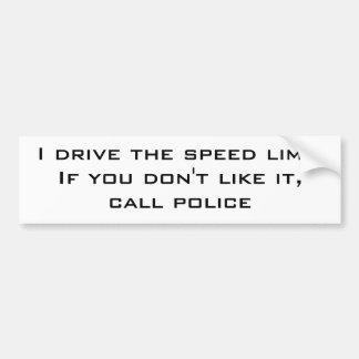 Je conduis la limitation de vitesse autocollant pour voiture