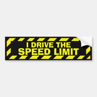 Je conduis l'autocollant de précaution de jaune de autocollant de voiture
