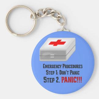 Je connais des premiers secours et peux répondre à porte-clés