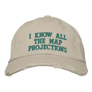 Je connais toutes les projections cartographiques casquette brodée