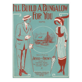 Je construirai un pavillon pour vous carte postale