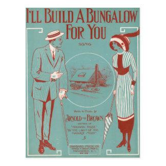 Je construirai un pavillon pour vous cartes postales