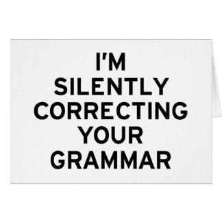 Je corrige la grammaire carte de vœux