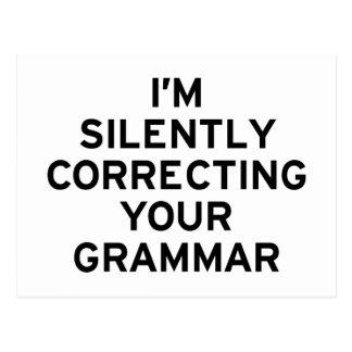 Je corrige la grammaire carte postale