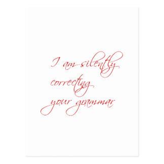 Je corrige silencieusement votre carte postale