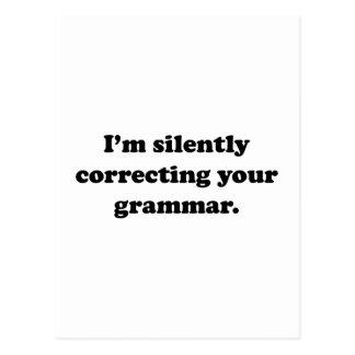 Je corrige silencieusement votre grammaire carte postale