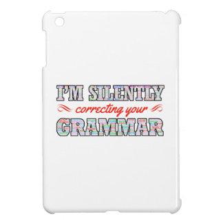 Je corrige silencieusement votre grammaire coque pour iPad mini