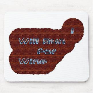 Je courrai pour le vin tapis de souris