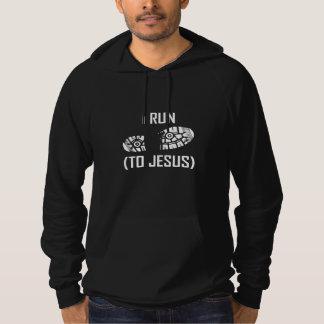 Je cours à Jésus Pull À Capuche