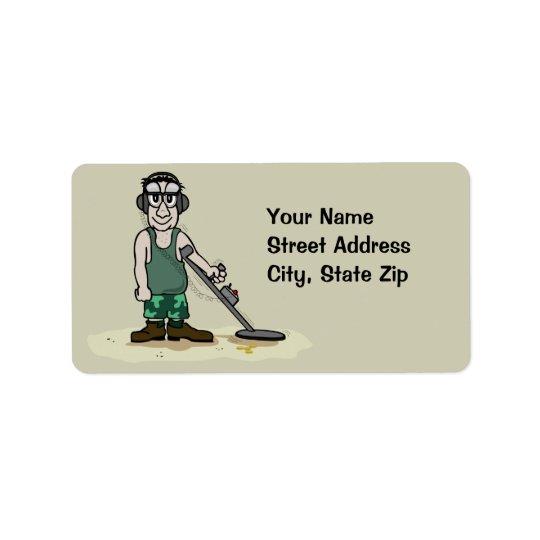 Je creuse le métal de butin détectant le chasseur étiquettes d'adresse
