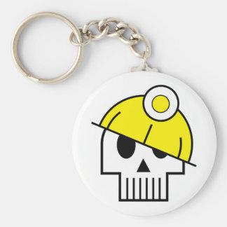 Je creuse le porte - clé mort de personnes porte-clé rond