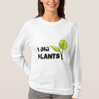 Je creuse le T-shirt de plantes