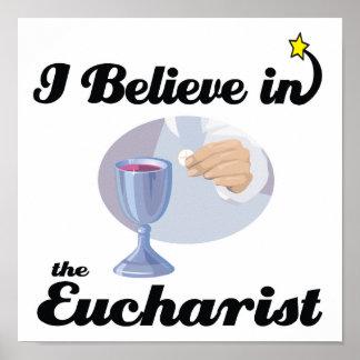 je crois à l eucharistie poster