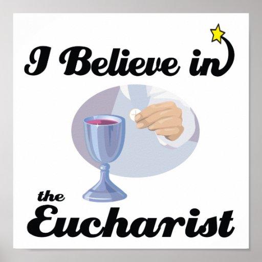 je crois à l'eucharistie poster