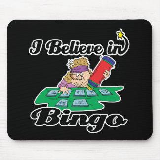 je crois au bingo-test tapis de souris
