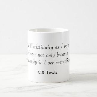 """""""Je crois au christianisme…"""" Tasse de café de"""