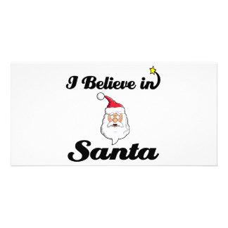 je crois au père Noël Cartes Avec Photo