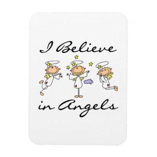 Je crois au T-shirts et aux cadeaux d'anges Magnet En Vinyle